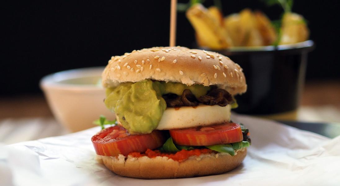 Rezept Halloumi-Burger mit Guacamole von Butterkipferl