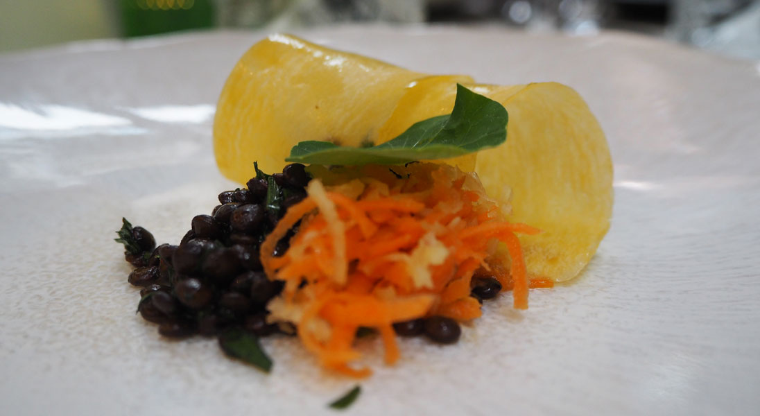 Essen in der Labstelle in Wien